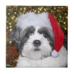 Christmas Shih Tzu Dog Tiles