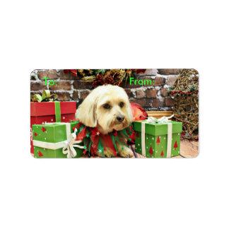 Christmas - Shih Tzu - Gizmo Address Label