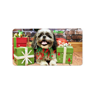 Christmas - Shih Tzu - Jake Address Label