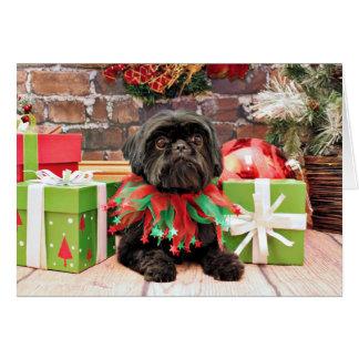 Christmas - Shih Tzu - Lily Greeting Card