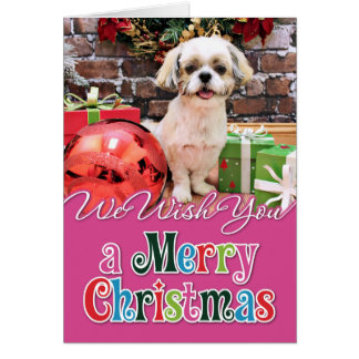Christmas - Shih Tzu - Marley Card