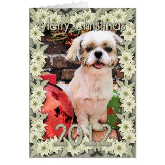 Christmas - Shih Tzu - Marley Greeting Card