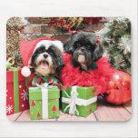 Christmas - Shih Tzu - Riley and Ruffles Mouse Pad