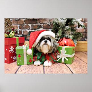 Christmas - Shih Tzu - Vince Poster