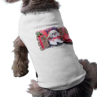 Christmas - Shih Tzu - Wrigley Dog Tee Shirt