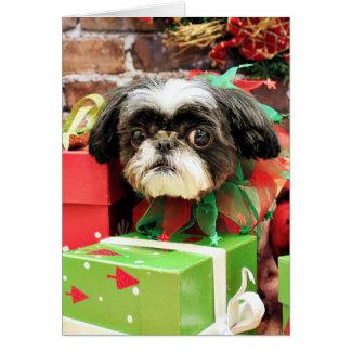 Christmas - Shih Tzu - Yogi Greeting Card