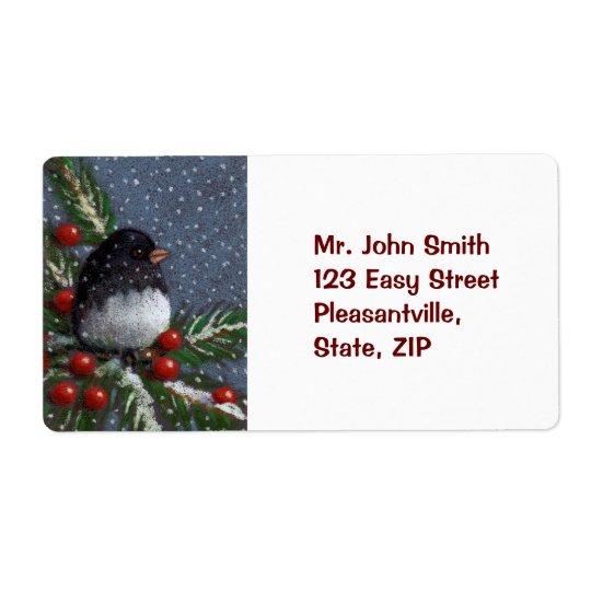 CHRISTMAS SHIPPING LABEL: BIRD, ARTWORK
