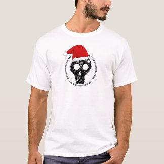Christmas Shirt - Scull with Santa Hat