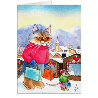 Christmas Shopaholics greeting card