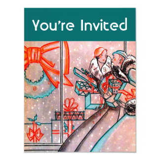 Christmas Shopping 11 Cm X 14 Cm Invitation Card