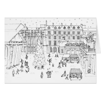 Christmas shopping in Covent Garden Greeting Card