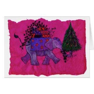 Christmas Shopping (pink) Greeting Card
