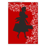 Christmas Shopping Silhouette Greeting Cards