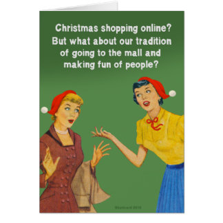 Christmas shopping tradition card