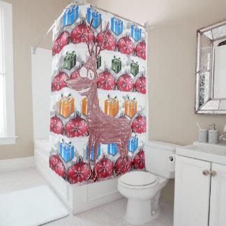 Christmas shower curtain