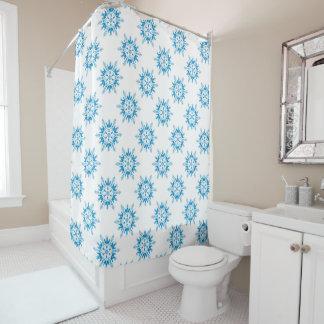 Christmas Shower Curtain/Snowflakes Shower Curtain