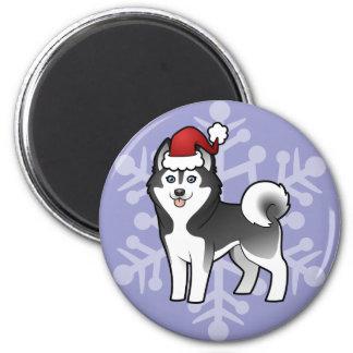 Christmas Siberian Husky / Alaskan Malamute Magnet
