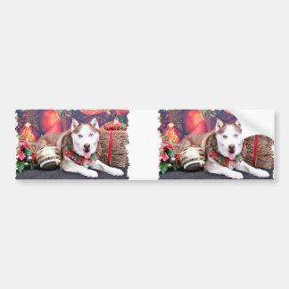 Christmas - Siberian Husky - Buddy Bumper Sticker