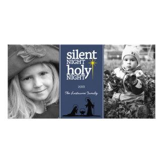 Christmas - Silent Night Holy Night - Photo Card