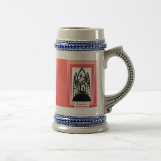 Christmas silhouette stein beer steins