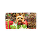 Christmas - Silky Terrier - Haley Label