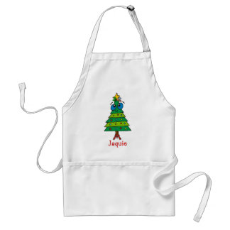 Christmas Silly Tree Adult Apron