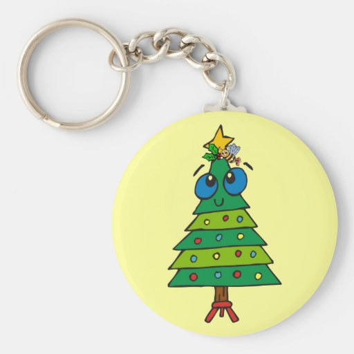 Christmas Silly Tree Keychains
