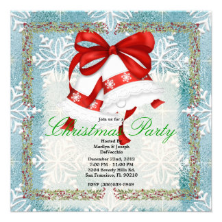 Christmas Silver Bells CUTE Christmas Party Holida Custom Invites