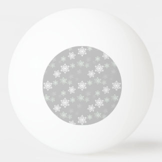 Christmas Silvery White Snow Flurries Ping Pong Ball