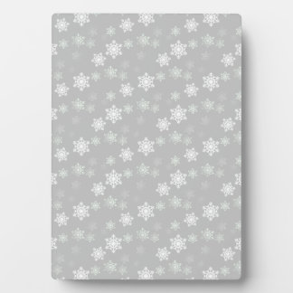 Christmas Silvery White Snow Flurries Plaque