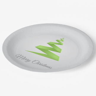 Christmas Simple Ribbon Christmas Tree Paper Plate
