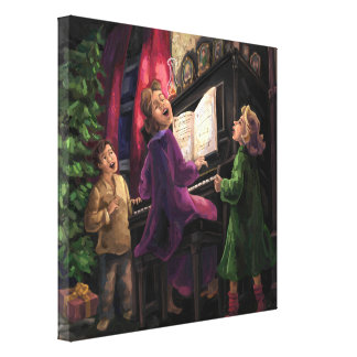 Christmas Sing Along Gallery Wrapped Canvas