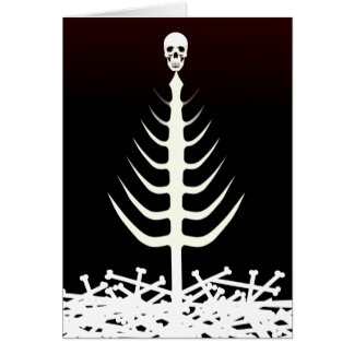 Christmas Skeleton Tree Card
