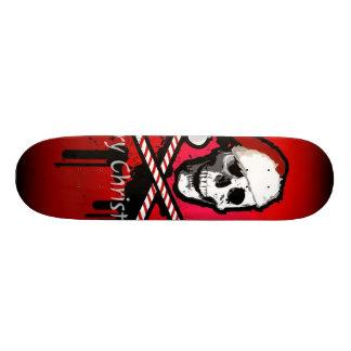 Christmas skull 21.6 cm skateboard deck