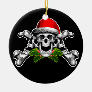Christmas Skull and Crossbones Christmas Ornament