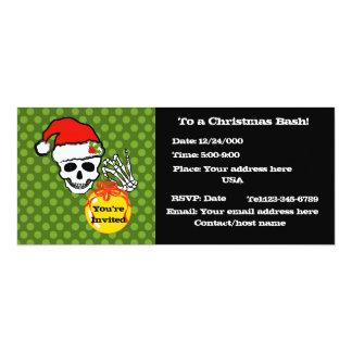 Christmas skull card