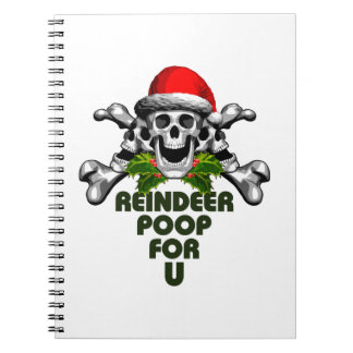Christmas Skull: Reindeer Poop Notebook