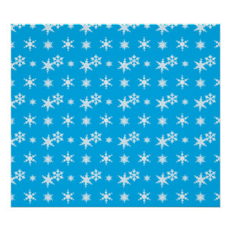 Christmas sky blue snowflakes pattern print