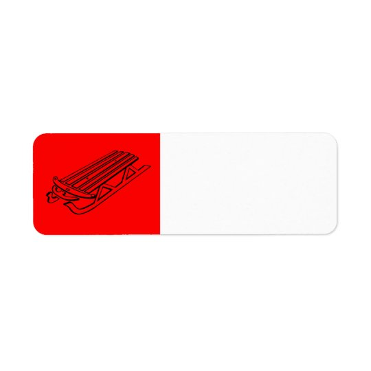 Christmas Sled Label Return Address Label