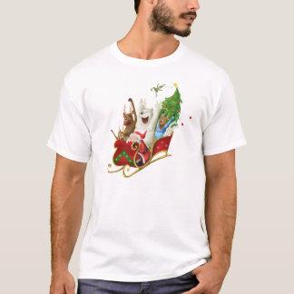 Christmas sledge funny digital drawing T-Shirt