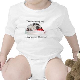 Christmas, Sleeping Cat, Santa Hat T Shirts