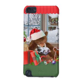 Christmas, Sleeping Cat, Teddy Bear iPod Touch 5G Covers