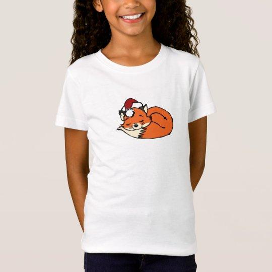 Christmas Sleeping Fox T-Shirt