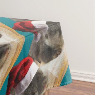 Christmas Sleepy Otter Tablecloth
