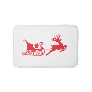 Christmas Sleigh Customizable Bath Mat
