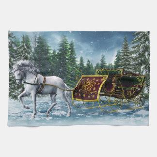 Christmas Sleigh Kitchen Towel