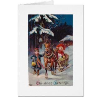 Christmas Sleigh Ride Greeting Card