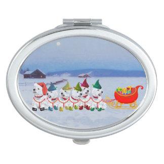 Christmas Sleigh Vanity Mirrors