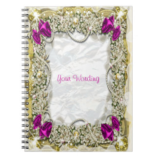 Christmas snow decorations festive note book