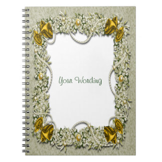 Christmas snow decorations festive spiral notebook